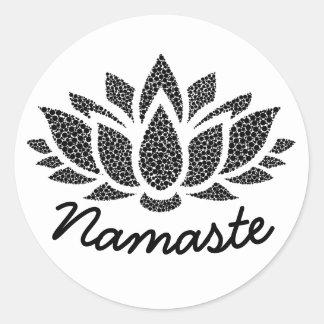 Etiqueta de Lotus Namaste da ioga