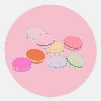 Etiqueta de Macaron do francês