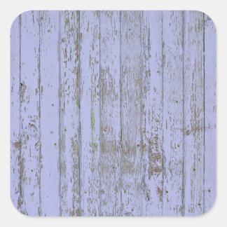 Etiqueta de madeira do quadrado da textura do adesivo quadrado