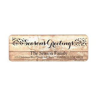 Etiqueta de madeira rústica do feriado dos