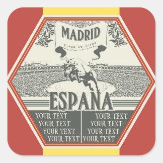 Etiqueta de Madrid Adesivo Quadrado