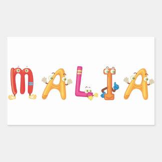 Etiqueta de Malia
