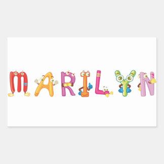 Etiqueta de Marilyn
