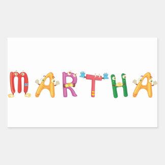 Etiqueta de Martha