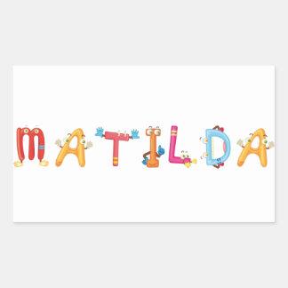 Etiqueta de Matilda