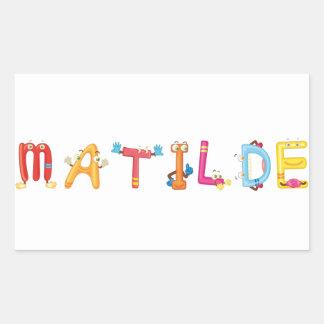 Etiqueta de Matilde
