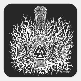 Etiqueta de Mjolnir - de Valknut