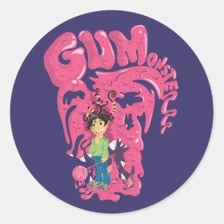 Etiqueta de Monsterrr da goma