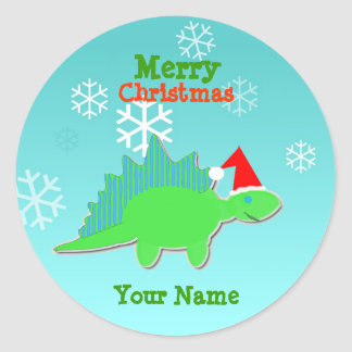 Etiqueta de nome do dinossauro dos desenhos adesivo