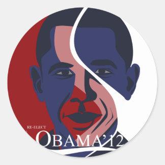 Etiqueta de Obama Adesivo Redondo