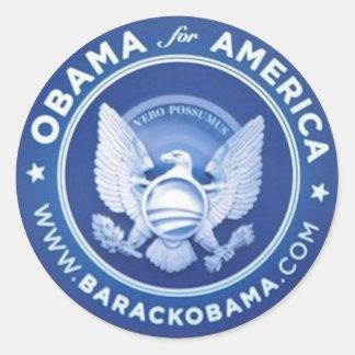 Etiqueta de Obama Adesivos Em Formato Redondos
