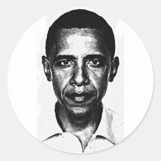 Etiqueta de Obama Adesivo Em Formato Redondo