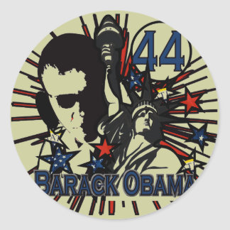 Etiqueta de Obama - Adesivos Redondos