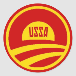 Etiqueta de Obama USSA Adesivos