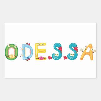 Etiqueta de Odessa