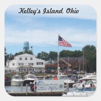 Etiqueta de Ohio do porto de Portside da ilha de