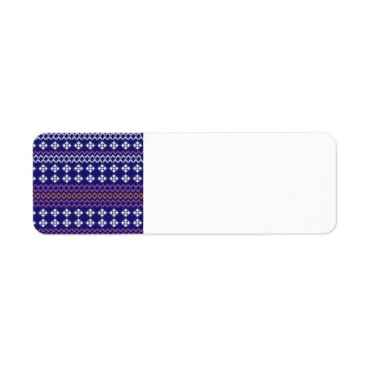 Etiqueta de papel bonito com ornamento populares etiqueta endereço de retorno