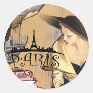 Etiqueta de Paris, 3 polegadas (folha de 6)