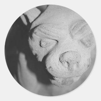 Etiqueta de pedra da gárgula