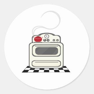 Etiqueta de pote vermelha do fogão retro adesivo