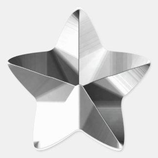 Etiqueta de prata da estrela adesito estrela