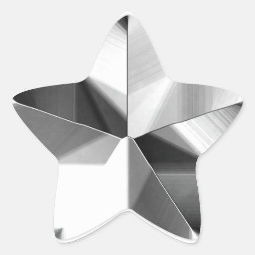 Etiqueta de prata da estrela adesivo em forma de estrela
