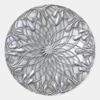 Etiqueta de prata Jeweled lágrima