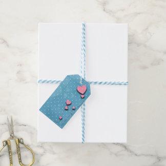 """Etiqueta de presentes """"Balões de corações"""""""
