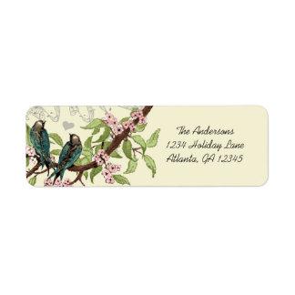 Etiqueta de ramo de florescência cor-de-rosa dos