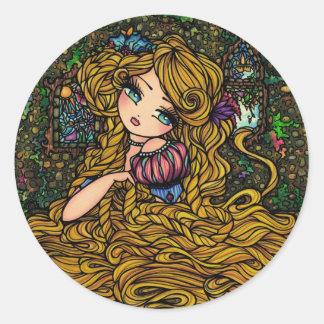 Etiqueta de Rapunzel Adesivo