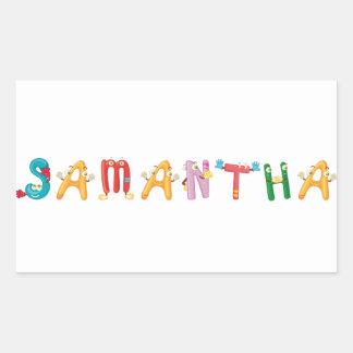 Etiqueta de Samantha
