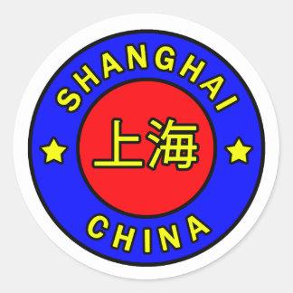 Etiqueta de Shanghai China
