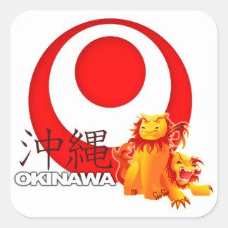 Etiqueta de Shisa do Okinawan