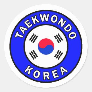 Etiqueta de Taekwondo Adesivo