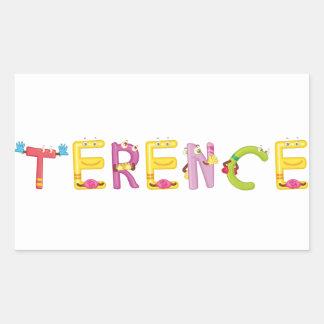 Etiqueta de Terence