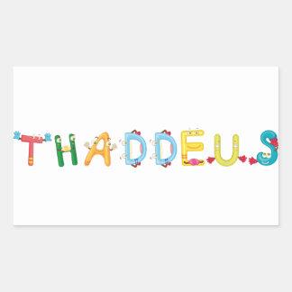 Etiqueta de Thaddeus