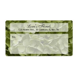 Etiqueta de transporte floral do Hydrangea de