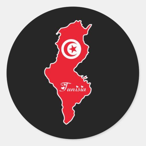 Etiqueta de Tunísia Adesivo Em Formato Redondo