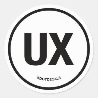 Etiqueta de UX Adesivo
