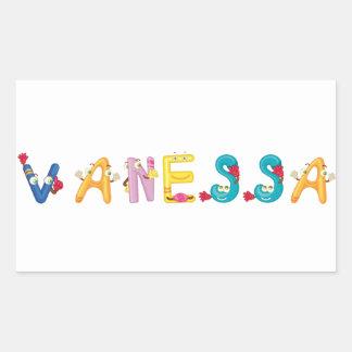 Etiqueta de Vanessa