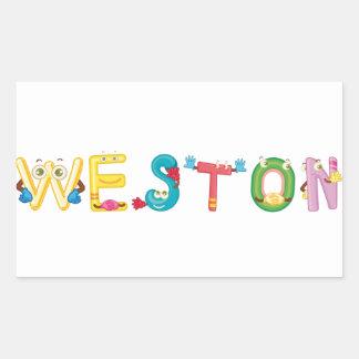 Etiqueta de Weston