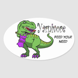 Etiqueta de Yarnivore T-Rex