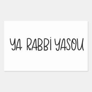 Etiqueta de Yasou do rabino de Ya (senhor Jesus de