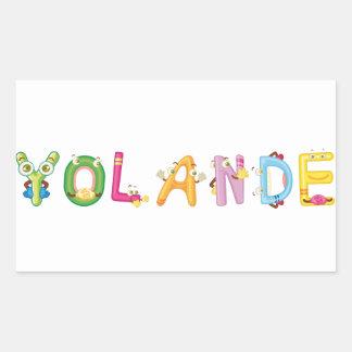 Etiqueta de Yolande