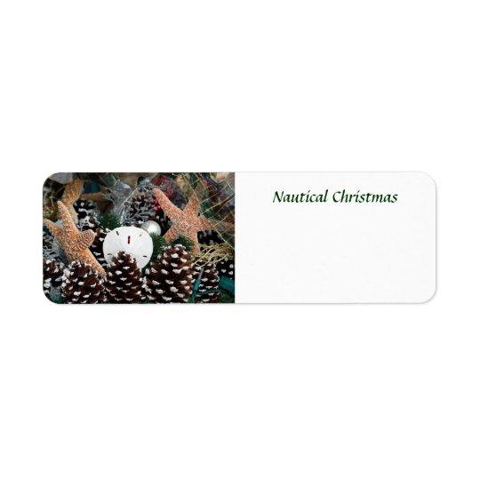 Etiqueta Decorações náuticas do Natal