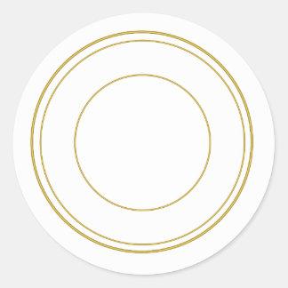 Etiqueta decorativa redonda do círculo do ouro