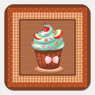 Etiqueta deliciosa do cupcake