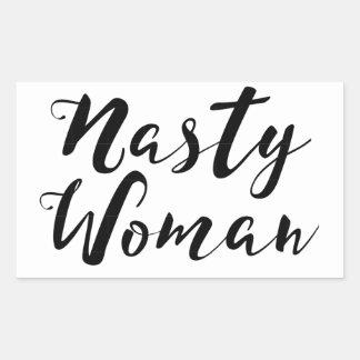 Etiqueta desagradável da mulher