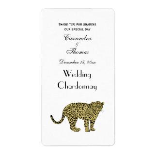 Etiqueta Desenho manchado chita do gato do leopardo do