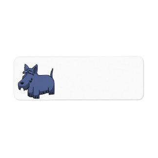 Etiqueta desenhos animados escoceses 2 do terrier